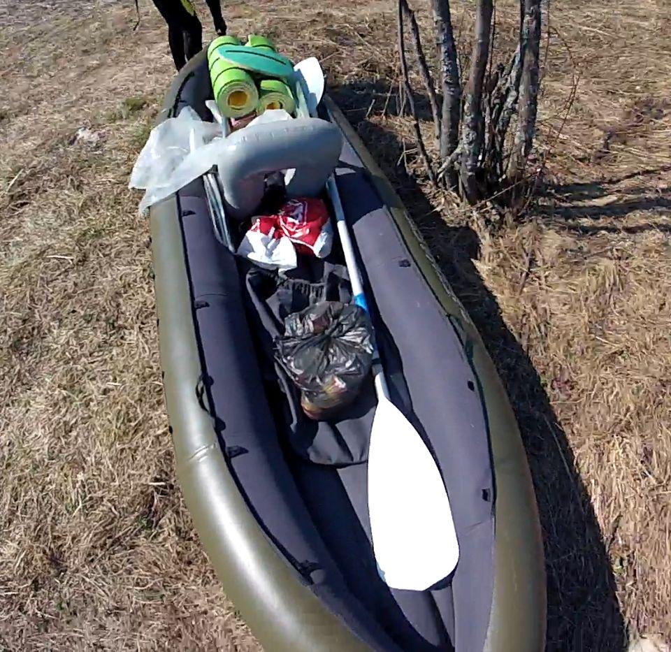 Надувная лодка байдарка с транцем raftmaster